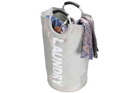 Groupon Goods Global GmbH - Grey Collapsible Laundry Basket with Handles - Save 0%