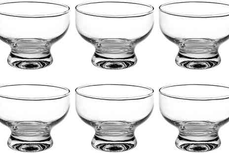 Groupon Goods Global GmbH - Six or Twelve Piece Glass Dessert or Cocktail Bowl Set - Save 0%