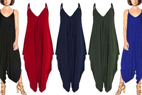 Groupon Goods Global GmbH - Womens Harem Jersey Jumpsuit in Choice of Colour - Save 0%