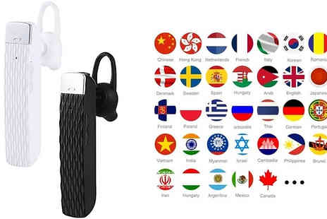EClife Style - 33 Language Translation Earphone Choose from 2 Colours - Save 73%