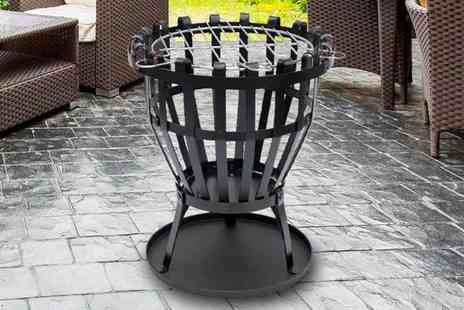 Home Discount - Fire Vide steel brazier choose a square or round ash tray - Save 0%