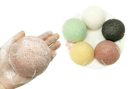 Magic Trend - Five Exfoliating Konjac Sponges - Save 84%