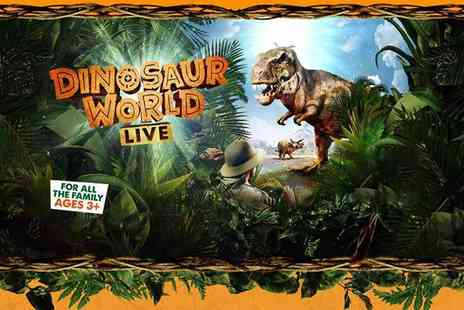 KX Tickets - Band A ticket to Dinosaur World Live see this thrilling interactive show - Save 31%