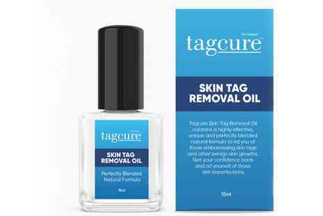Groupon Goods Global GmbH - One, Two or Three Tagcure Skin Tag Removal Oils 15ml - Save 0%
