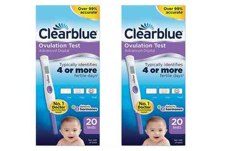 Groupon Goods Global GmbH - 20 or 40 Clearblue Advanced Digital Ovulation Tests - Save 0%