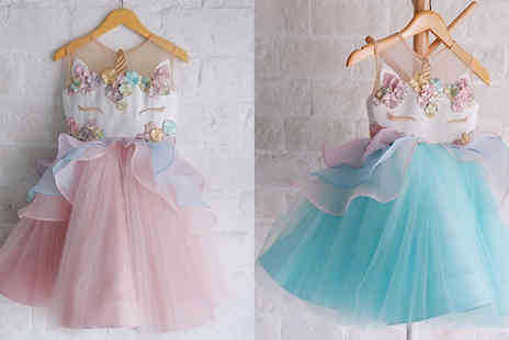My Blu Fish - Unicorn Tutu Princess Dress Choose from 3 Colours & 5 Sizes - Save 85%