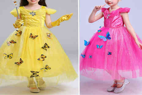 My Blu Fish - Girls Butterfly Carnival Costume Dress Choose from 4 Colours & 5 Sizes - Save 68%