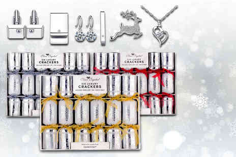 Your Ideal Gift - Six luxury crackers with prizes made with crystals from Swarovski - Save 83%
