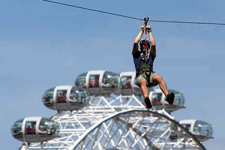 Zip Now London - Zip wire experience for one, Mega drop and repeat zip - Save 33%