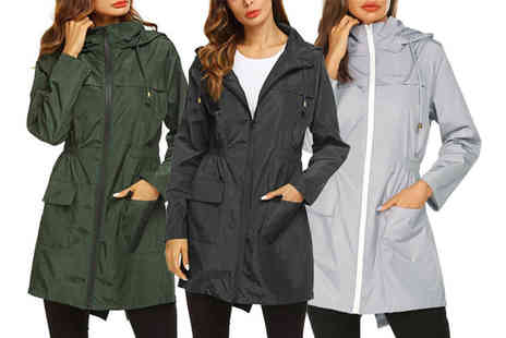 Spezzeee - Zip hooded waterproof raincoat - Save 65%