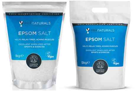 Groupon Goods Global GmbH - PraNaturals Epsom Salt 1kg or 5kg Bags - Save 0%