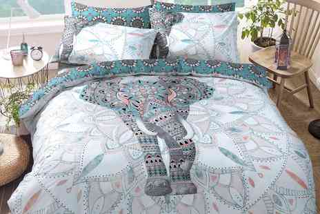 Groupon Goods Global GmbH - Pieridae Elephant Mandala Reversible Duvet Set - Save 0%