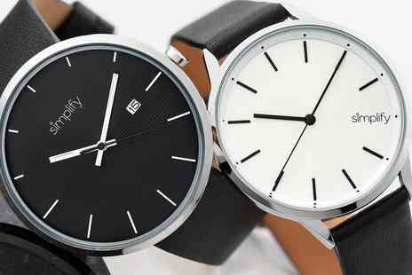 Groupon Goods Global GmbH - Simplify 6400 or 6700 Series Watches With Free Delivery - Save 0%