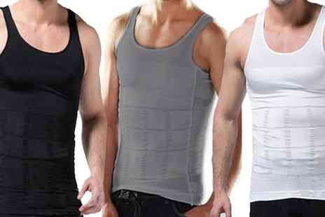 Groupon Goods Global GmbH - One or Two Mens Body Shaping Vests - Save 0%