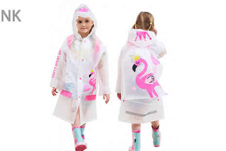 Hey4beauty - Kids Waterproof Raincoat Choose from 4 Colours - Save 67%