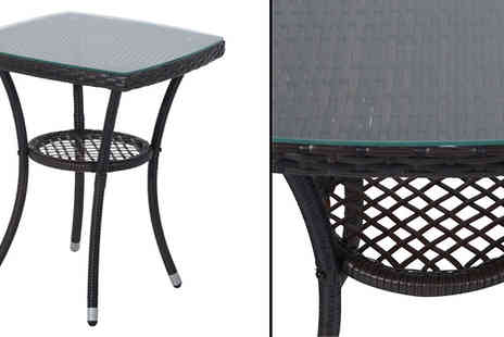 Mhstar - 3 Piece Rattan Dining Set Choose from Black or Brown - Save 74%