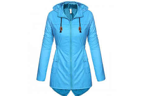 My Blu Fish - Hooded Wind Jacket Choose from 6 Colours & 4 Sizes - Save 70%