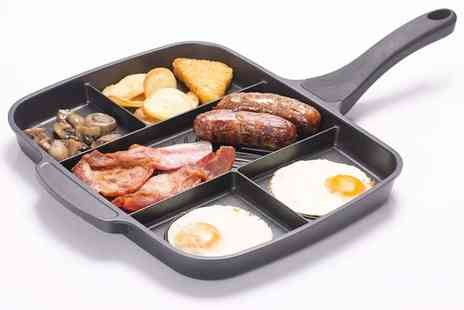 Secret Storz - Non stick five in one divided grill fry pan - Save 76%