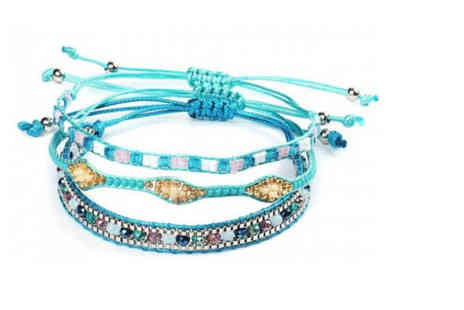 hey4beauty - Bohemian Multi Coloured Tie Bracelet choose from 3 Designs - Save 83%