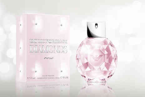 Wowcher Direct - 50ml Edt bottle of Emporio Armani Diamonds Rose - Save 21%