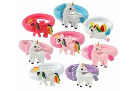 Wish Imports - An eight piece unicorn hair band set - Save 69%
