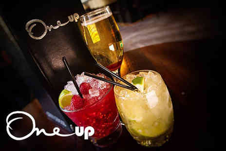 One Up - Four mix and match cocktails with nibbles for two people - Save 58%