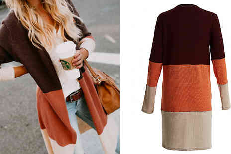 hey4beauty - Gradient Ombre Long Cardigan Choose from 4 Colours & 4 Sizes - Save 67%