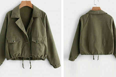 hey4beauty - Vintage Style Drawstring Jacket Choose from 3 Colours & 3 Sizes - Save 67%