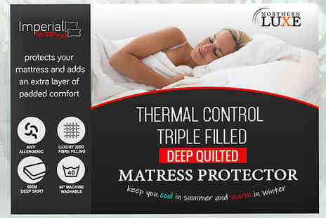 Imperial Bedding Mcr - Thermal Control Mattress Protector Choose from 4 Sizes - Save 73%