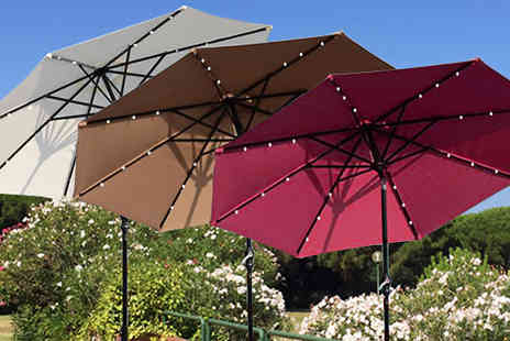 Mhstar - XL Led Solar Powered Parasol in 3 Colours with Free Delivery - Save 44%