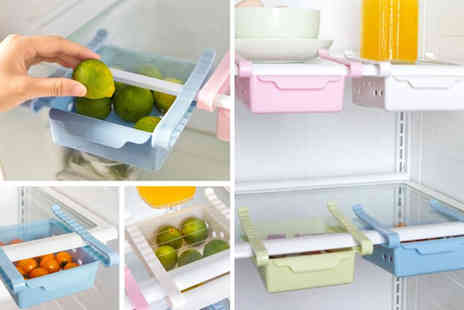 YelloGoods - Retractable fridge under shelf drawer choose from green, pink, blue or white - Save 80%