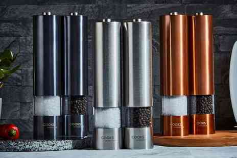 CJ Offers - Set of electric salt and pepper mills - Save 46%