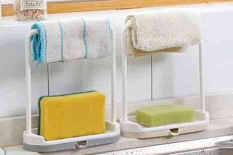 Groupon Goods Global GmbH - One, Two or Four Kitchen Cloth Rack And Sponge Holders - Save 0%