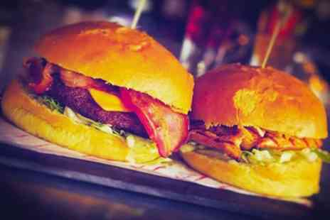 One Up Glasgow - Burger, Fries and Cocktail Each for Two or Four - Save 52%