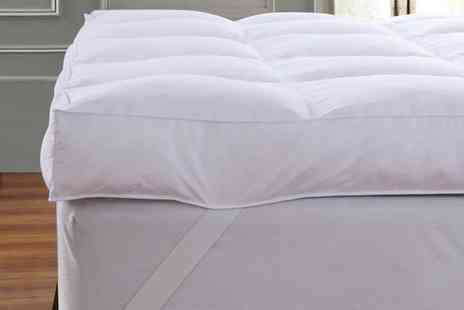 Groupon Goods Global GmbH - Extra Deep 12.5cm Dickens Goose Feather Mattress Topper - Save 0%