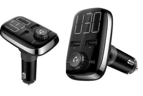 Groupon Goods Global GmbH - Hands Free Bluetooth Car Kit with Two Usb Ports - Save 0%