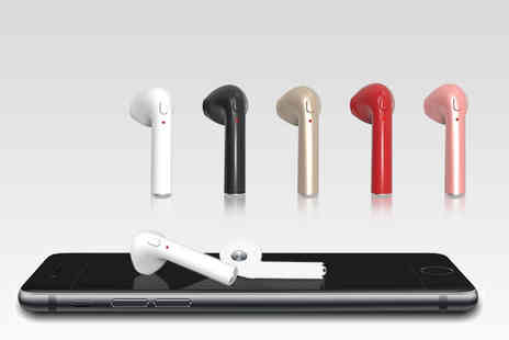 WowWhatWho - Pair of Apple compatible wireless earbuds choose from five colours - Save 86%
