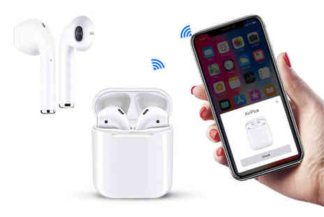 WowWhatWho - Pair of Apple compatible i24 TWS wireless earbuds - Save 75%