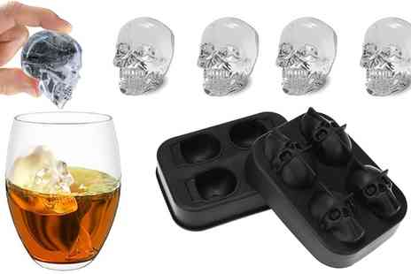 Groupon Goods Global GmbH - One, Two, Four or Eight Skull Shaped Ice Moulds - Save 0%