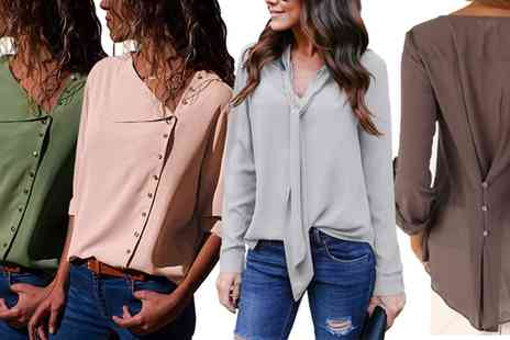 Groupon Goods Global GmbH - Chiffon Blouses Selection - Save 0%