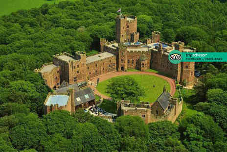 Peckforton Castle - Overnight Cheshire stay for two people with two course brasserie dining and 10% discount on pre booked spa treatments - Save 59%