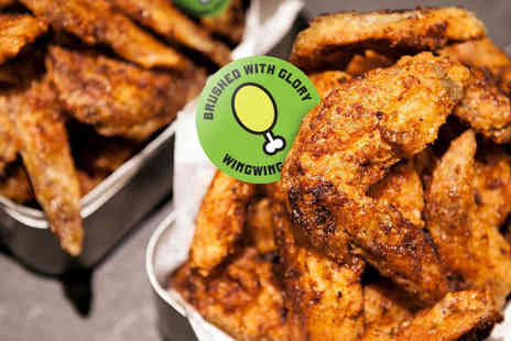 Wing Wing Krispy Chicken - 26 chicken wings and four beers to share between two people - Save 51%