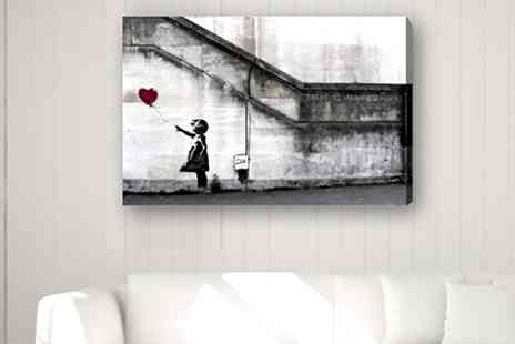 Groupon Goods Global GmbH - Banksy Printed Canvas in Choice of Design and Size - Save 0%
