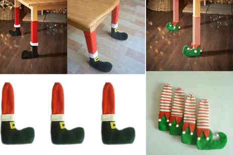 Suzhou Dashijie Electronics Co - Pair or Santa or Elf Christmas table & chair leg covers - Save 87%