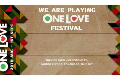 One Love Festival - Friday Ticket or Weekend Pass from 30th August To 1st September - Save 40%