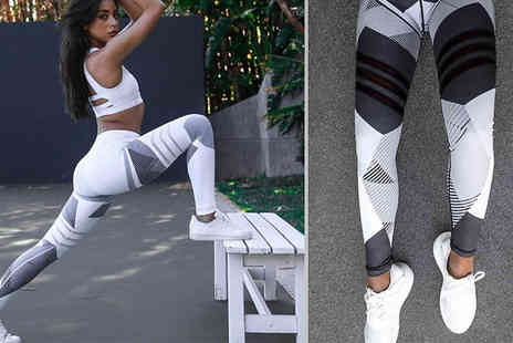 hey4beauty - High Waisted Fitness Shaping Leggings Choose from Two Colours And Three Sizes - Save 77%