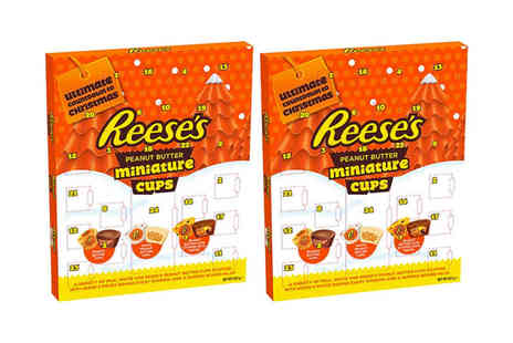 Avant Garde - Pack of two Reeses snowman peanut butter advent calendar - Save 0%