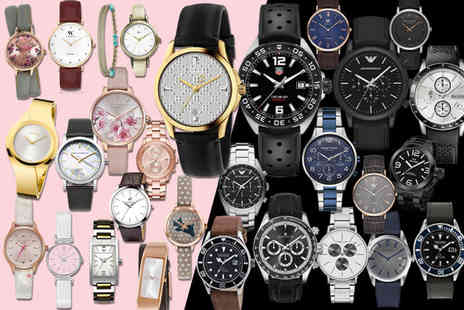 Brand Logic - Mystery watch deal for him or her Choose fromTag Heuer, Gucci, Armani, Hugo Boss, Calvin Klein, Kahuna, Beverly Hills And More - Save 0%