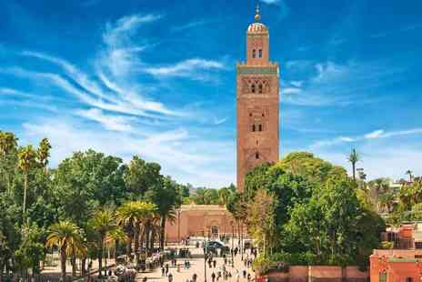 Cheap Cost Travel - Four Star Escape with a two, three, four, five or seven nights Marrakech getaway Now with the ability to choose your flight - Save 0%