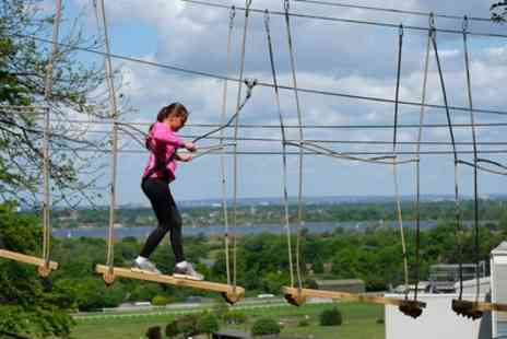 Skywalk Adventures - Two High Rope Course Experiences for Two Adults or Family of Four - Save 52%